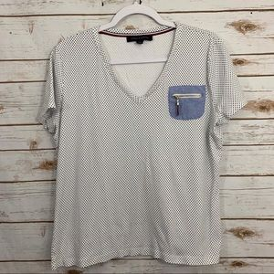 Tommy Hilfiger Polka Dot Zip Pocket Tee T-Shirt